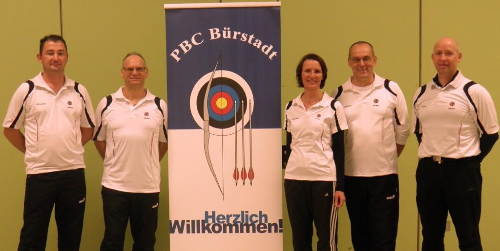Bild von links: Alexander Fröse, Günter Nauman, Christine Ahrens, Andreas Walczyk und Stefan Breitfelder